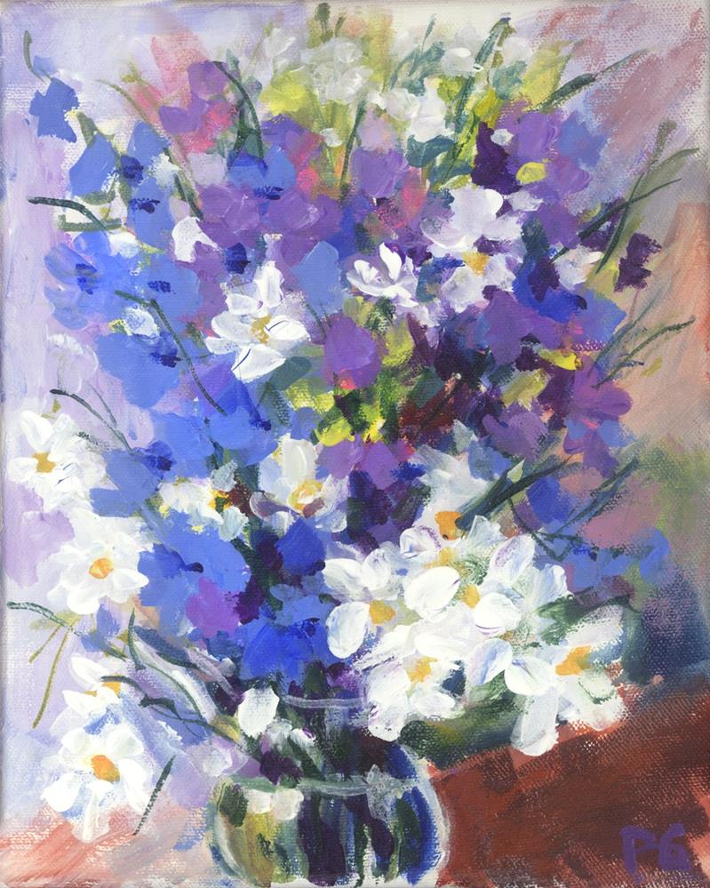 """Blue-Purples and Red-Purples"" original fine art by Pamela Gatens"