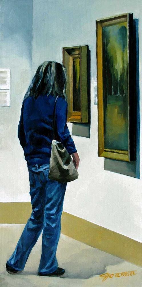 """Modern Classic-Painting People in Art Gallery Series"" original fine art by Joanna Bingham"