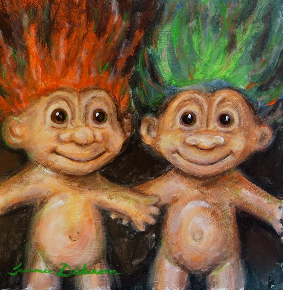 """Trolls!"" original fine art by Tammie Dickerson"