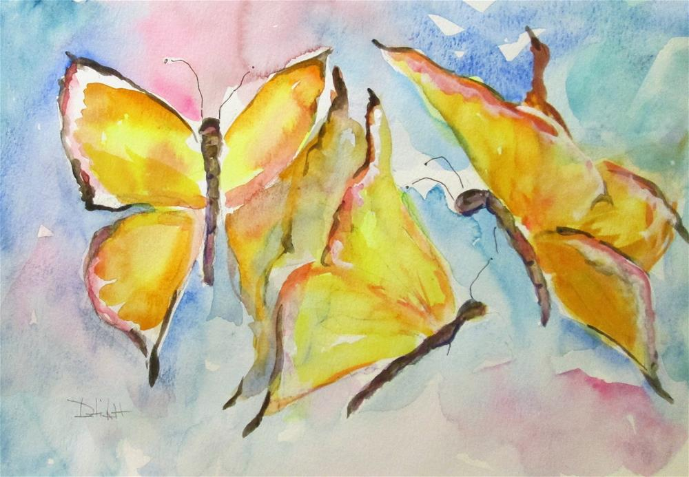 """Happy Butterflies"" original fine art by Delilah Smith"