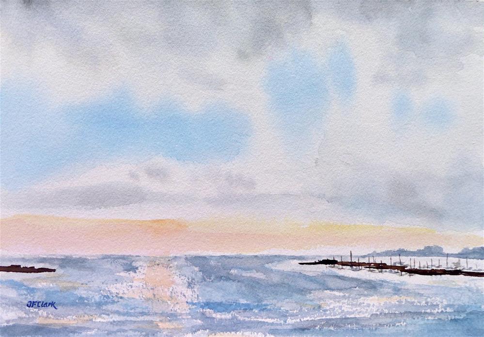 """Clearing Up, Rapallo Harbor"" original fine art by Judith Freeman Clark"