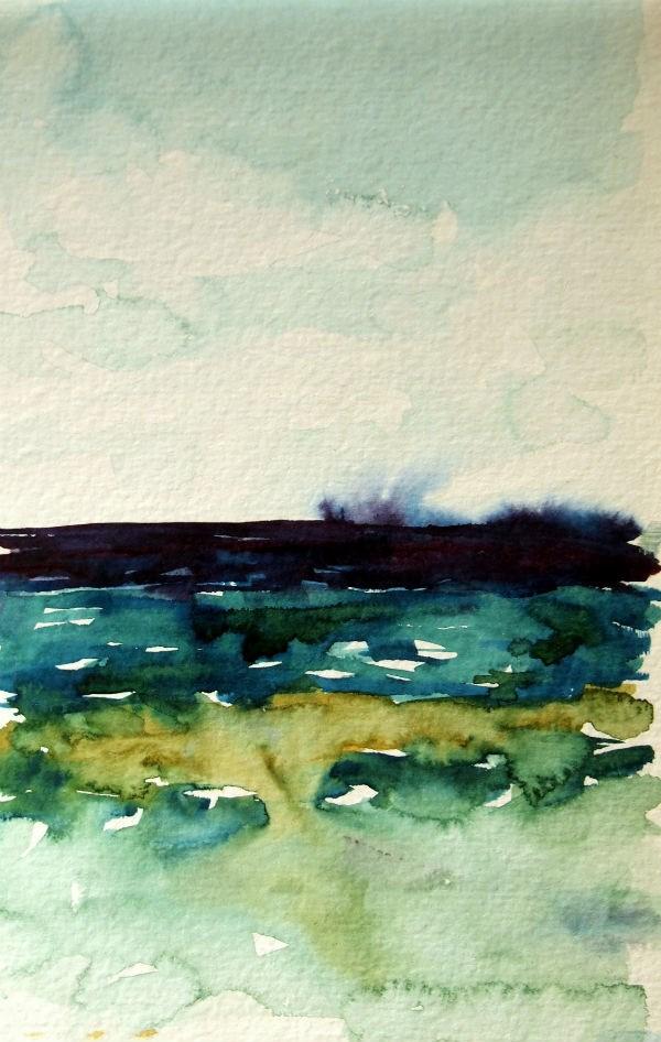 """Lake Michigan From Sleeping Bear Dunes"" original fine art by Amy Bryce"