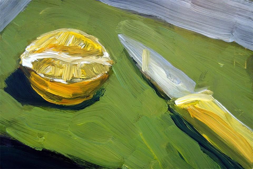 """Lemon"" original fine art by J. Farnsworth"