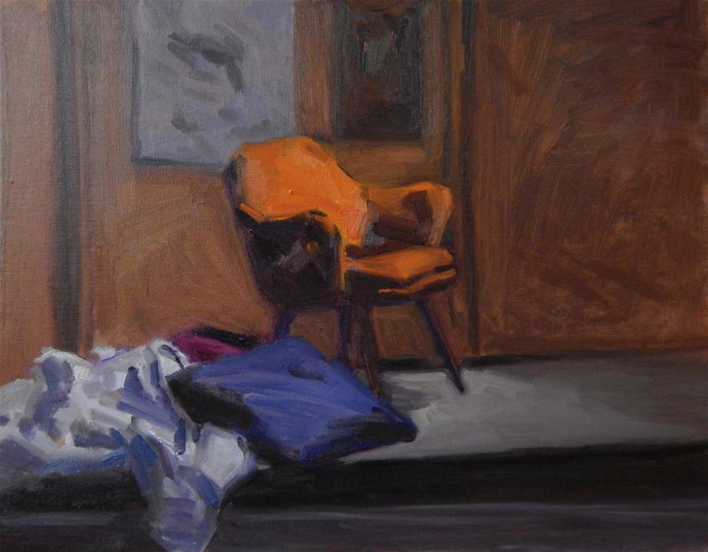 """Orange Chair"" original fine art by Megan Schembre"