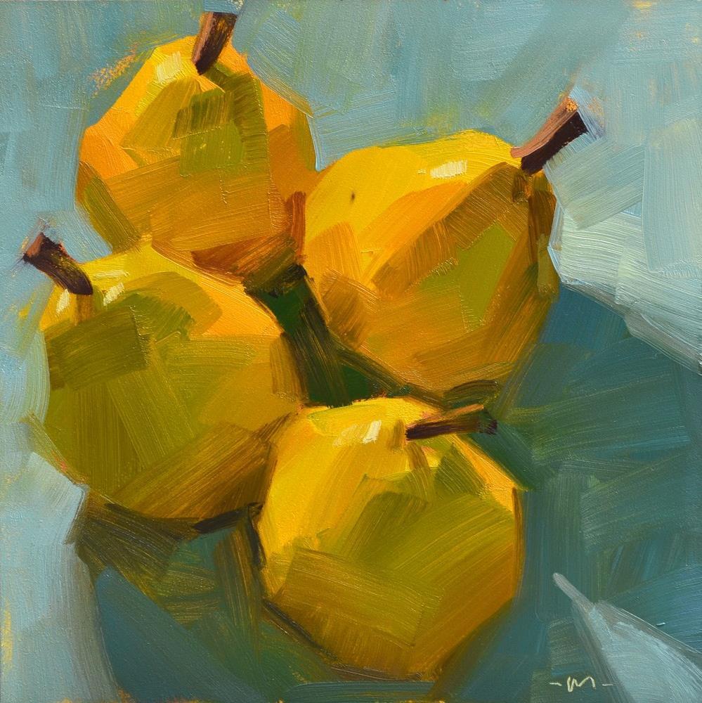 """""""Four Pear 2"""" original fine art by Carol Marine"""