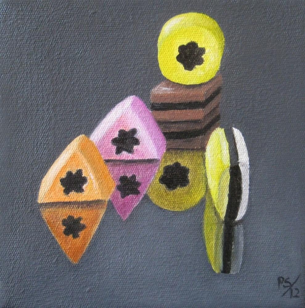 """Liquorice Allsorts II"" original fine art by Pera Schillings"