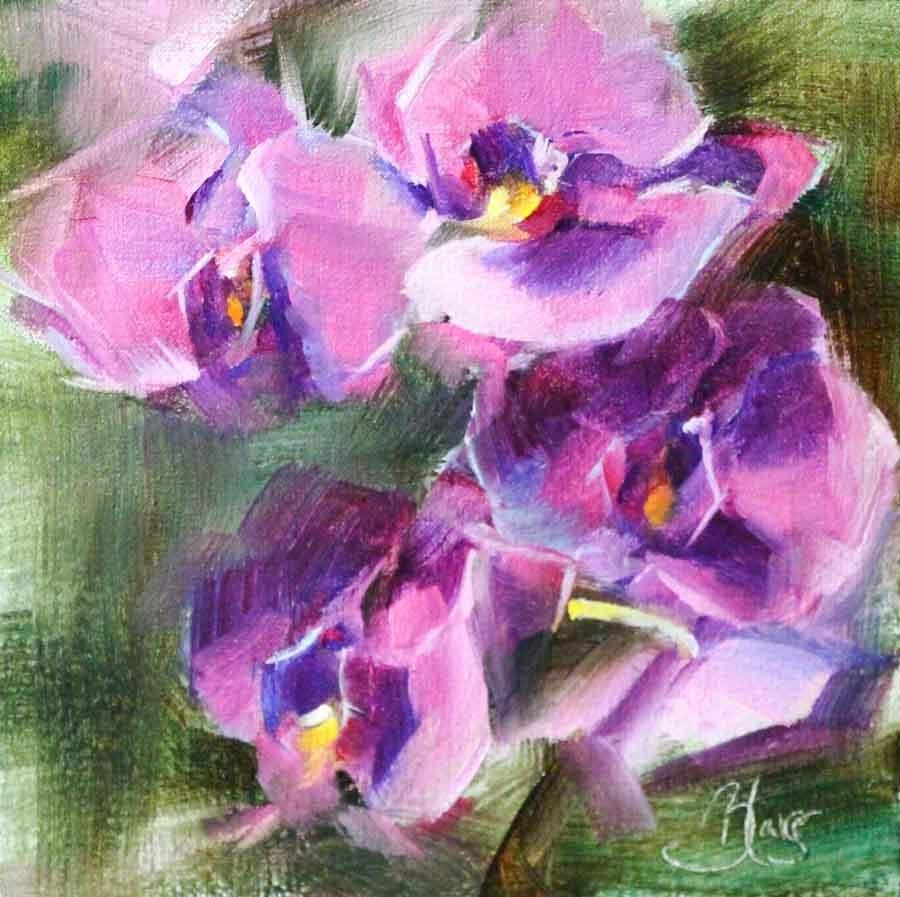 """""""Orchids"""" original fine art by Pamela Blaies"""