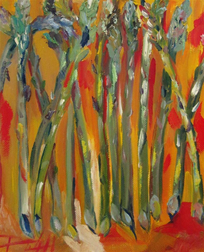 """Asparagus No.5"" original fine art by Delilah Smith"
