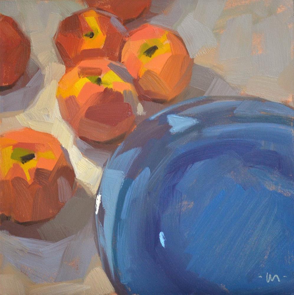 """Penitent Peaches"" original fine art by Carol Marine"