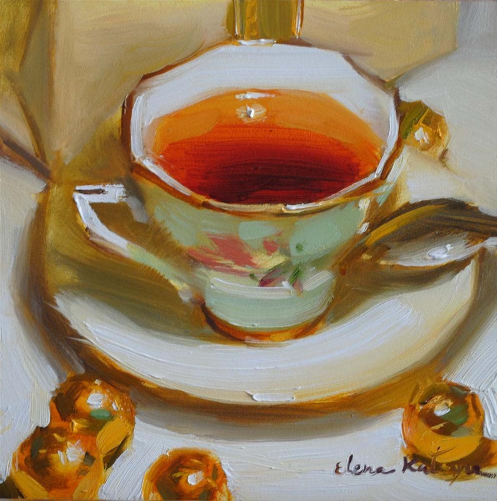"""Cup of Gold"" original fine art by Elena Katsyura"