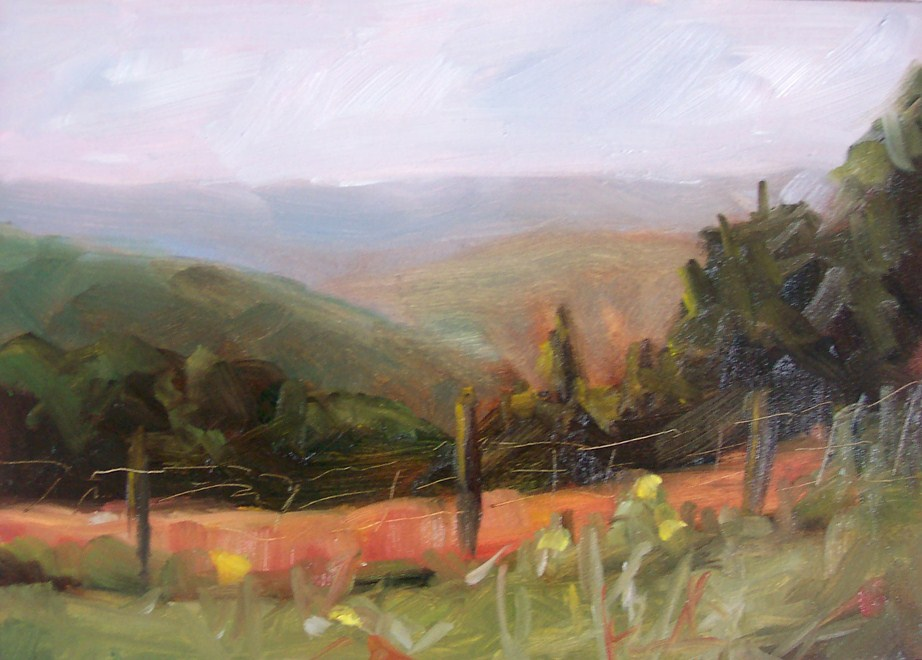 """""""Hills"""" original fine art by Cindy Haase"""
