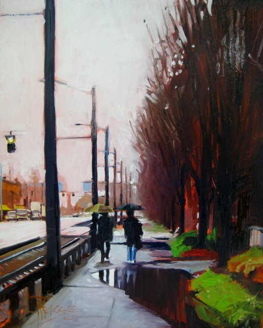 """Alaskan Way   oil on panel"" original fine art by Robin Weiss"