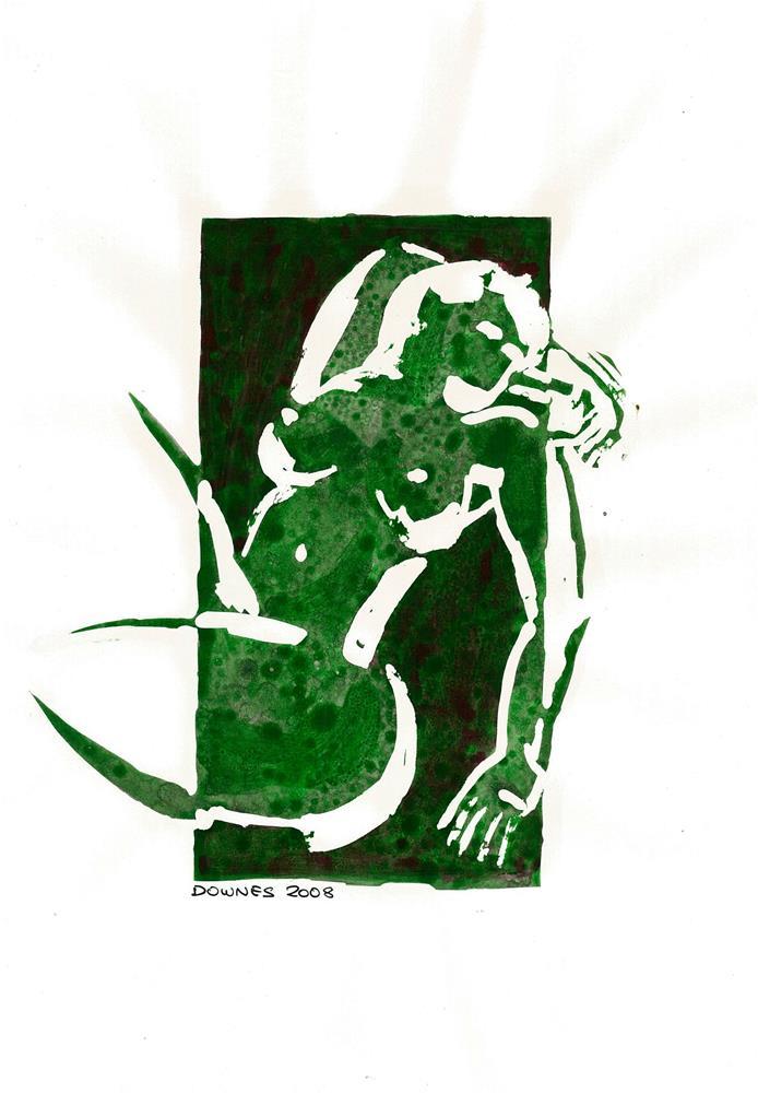 """212 STYLISED LIFE SKETCH 1"" original fine art by Trevor Downes"
