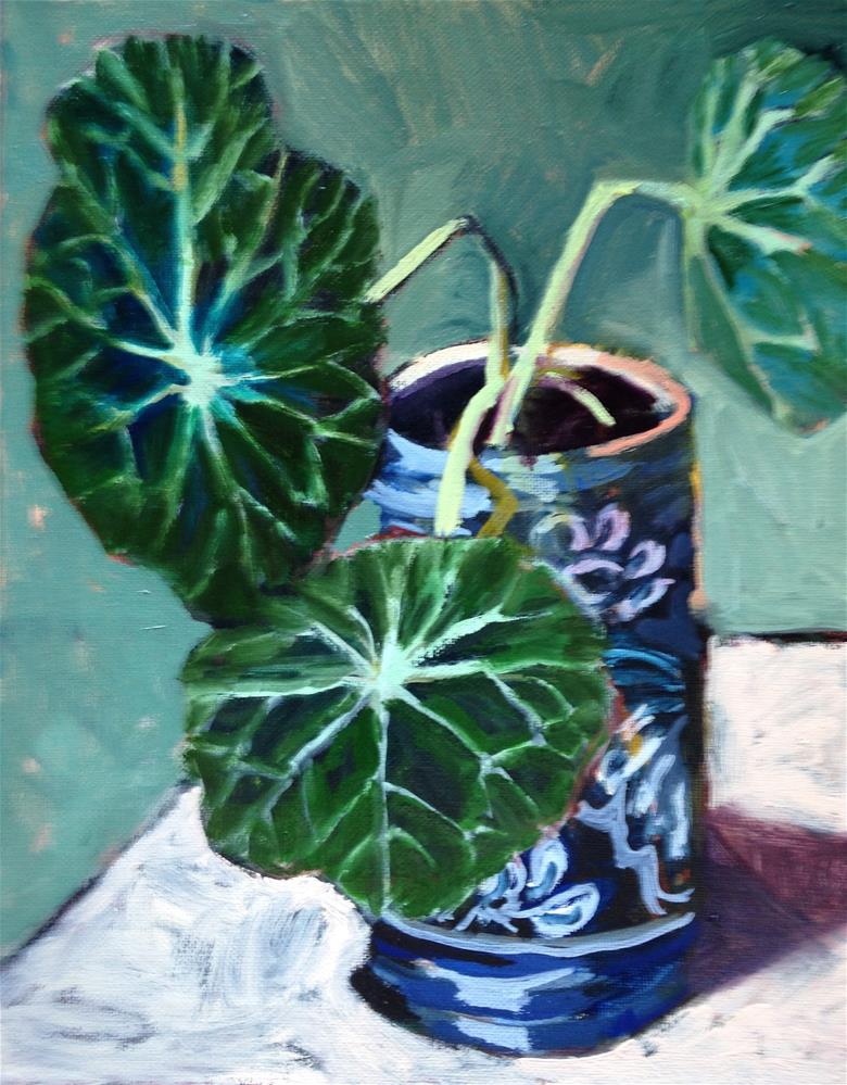 """""""Big Leaves"""" original fine art by Pamela Hoffmeister"""