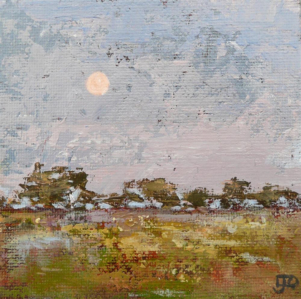 """""""Moon Rising"""" original fine art by Leanne Owen"""