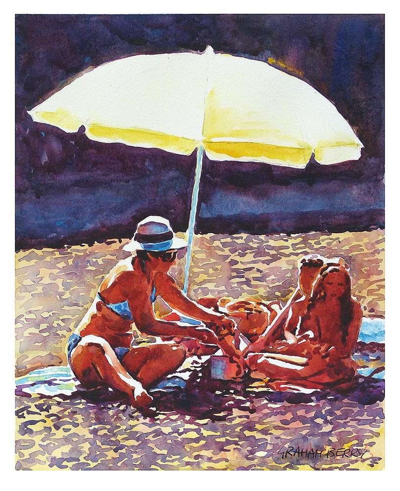 """""""Beach picnic."""" original fine art by Graham Berry"""