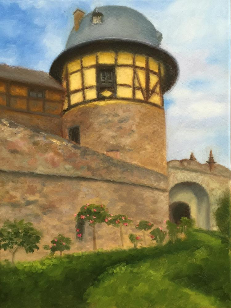 """Kronberg Castle"" original fine art by Karen D'angeac Mihm"