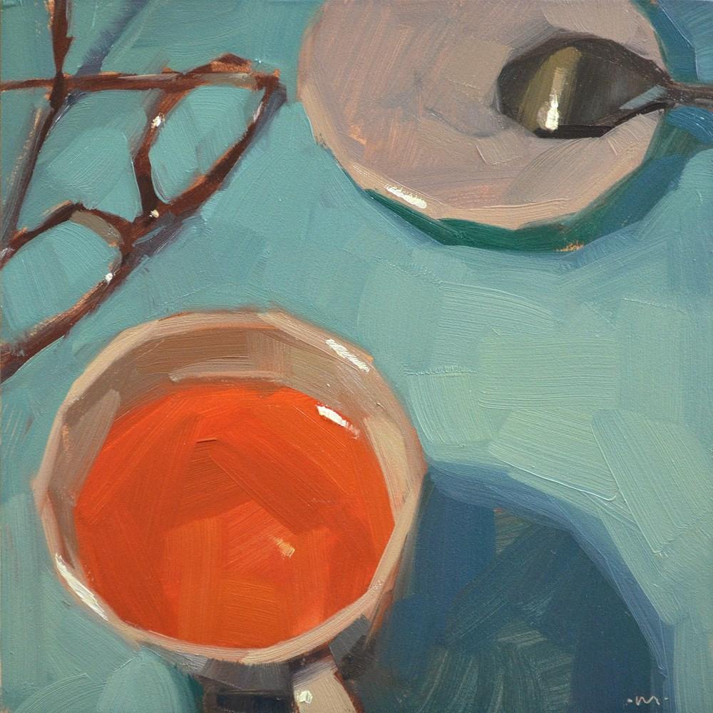 """I Can't See My Tea"" original fine art by Carol Marine"