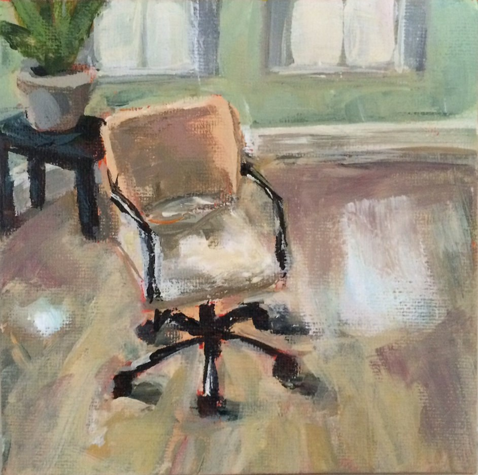 """Lone Chair"" original fine art by Shannon Bauer"