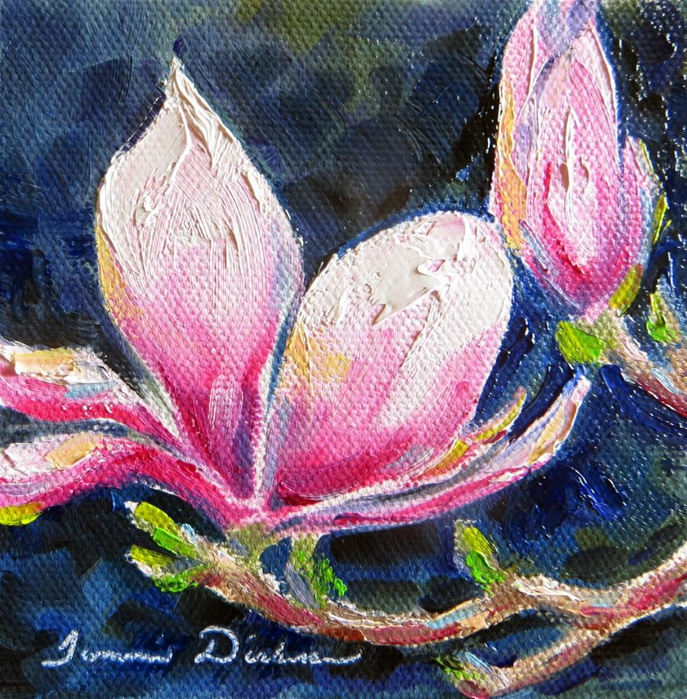 """Midnight Magnolia"" original fine art by Tammie Dickerson"