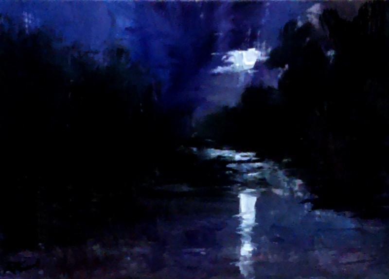 """Lunarscape"" original fine art by Bob Kimball"