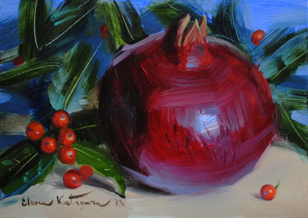 """""""Holiday Colors"""" original fine art by Elena Katsyura"""
