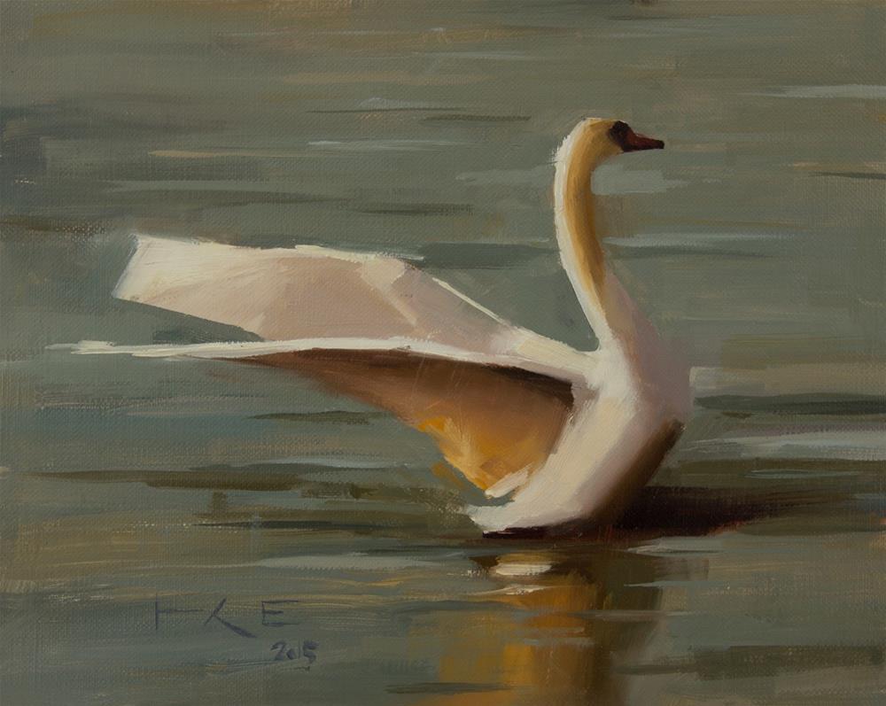 """Swan"" original fine art by Thorgrimur Andri Einarsson"