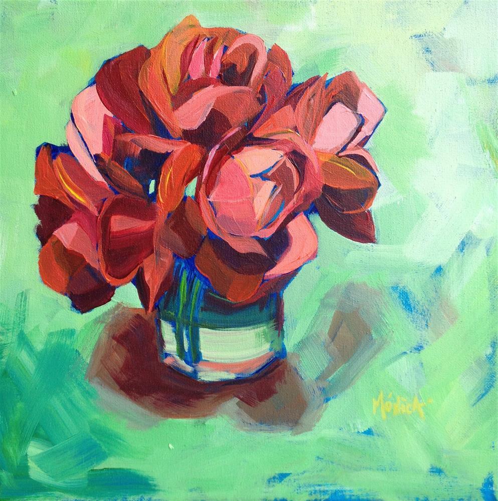 """""""Shades of Orange"""" original fine art by Mónica Linares"""
