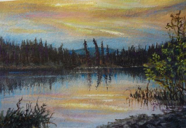 """""""Memories of Summer, Fisheye Lake"""" original fine art by Jackie Irvine"""