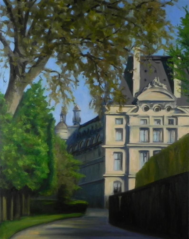 """""""Along a Back Alley"""" original fine art by Jonelle Summerfield"""
