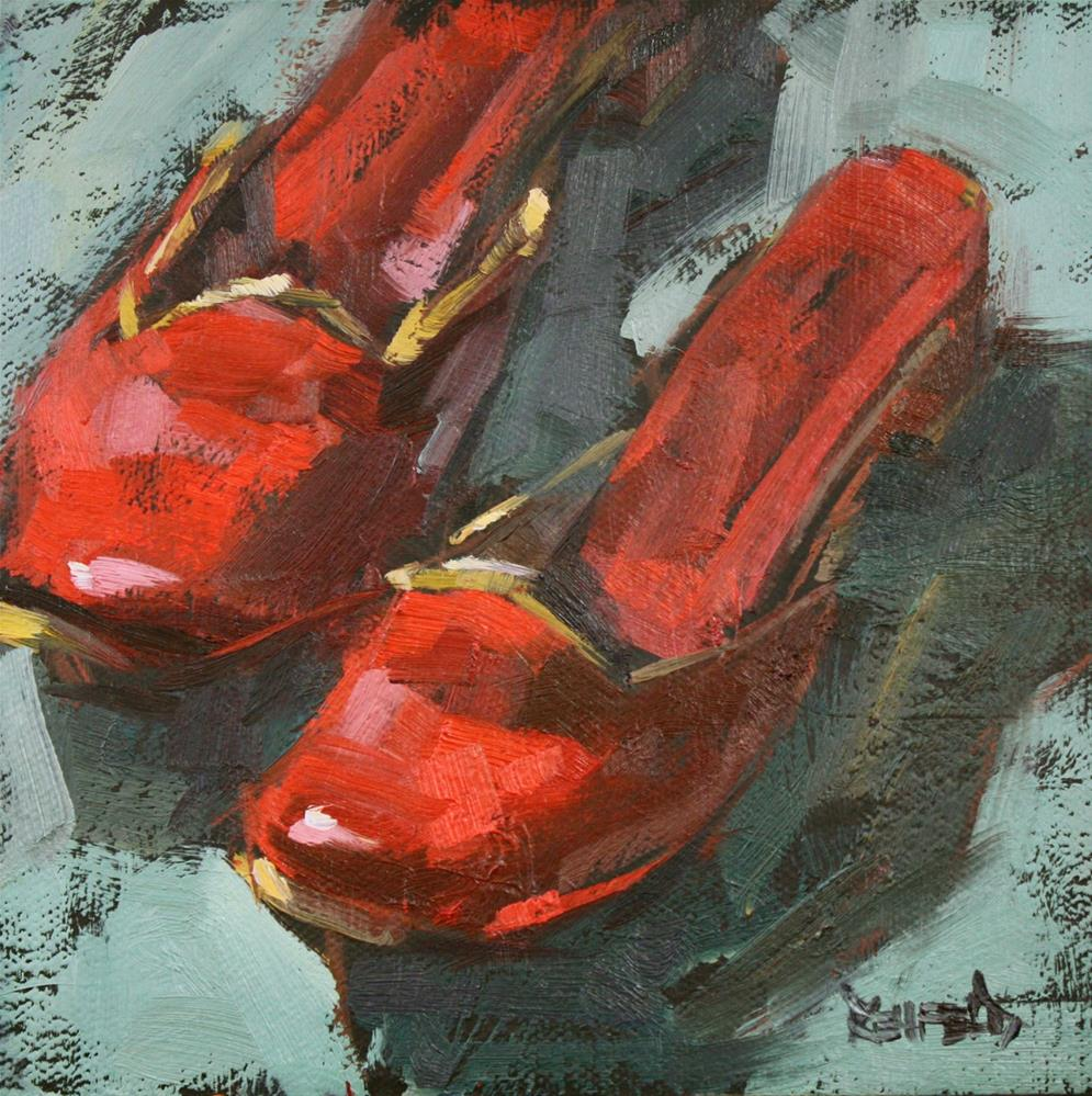 """Red Shoes"" original fine art by Cathleen Rehfeld"