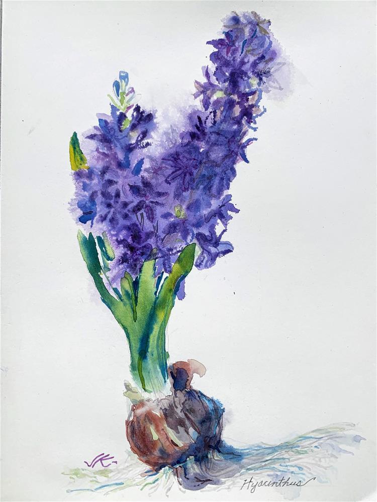 """Hyacinthus"" original fine art by Jean Krueger"