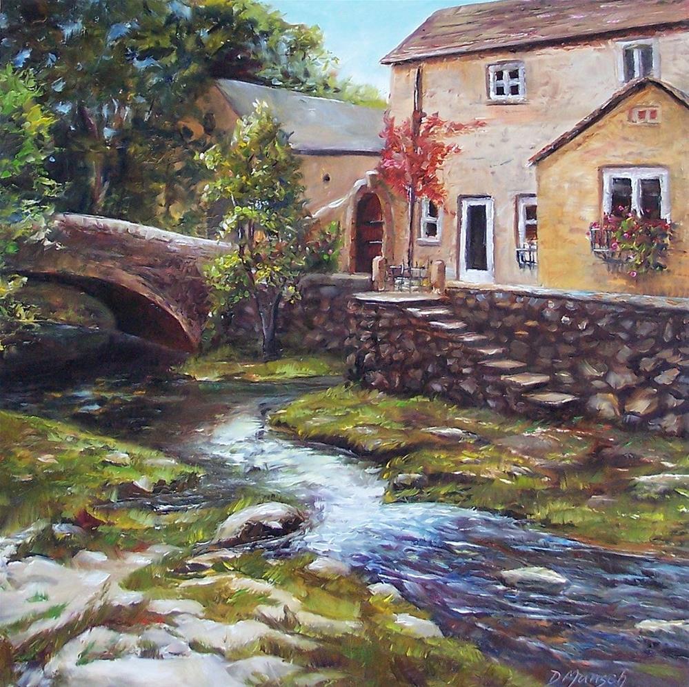 """""""Old World Cottage Charm"""" original fine art by Donna Munsch"""
