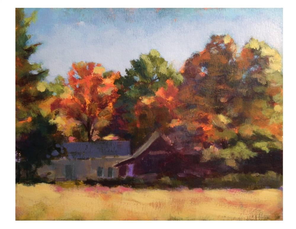 """Vermont Fall"" original fine art by Suzanne Woodward"