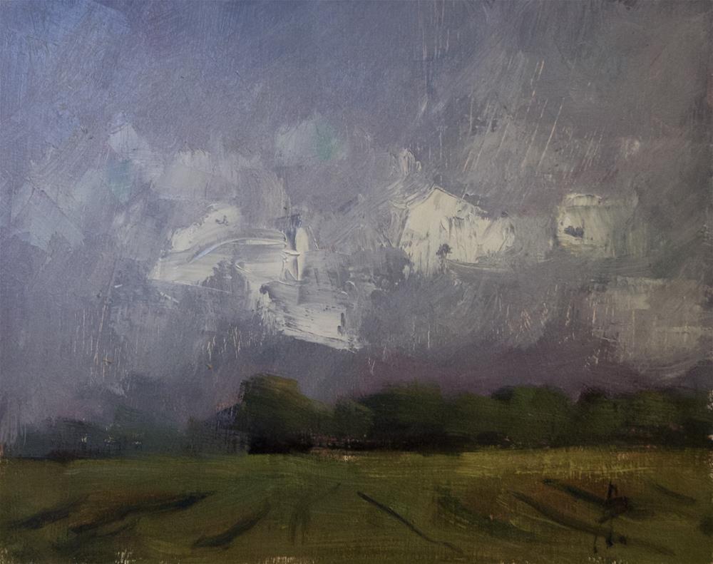 """Dark Sky, White Clouds"" original fine art by Andre Pallat"