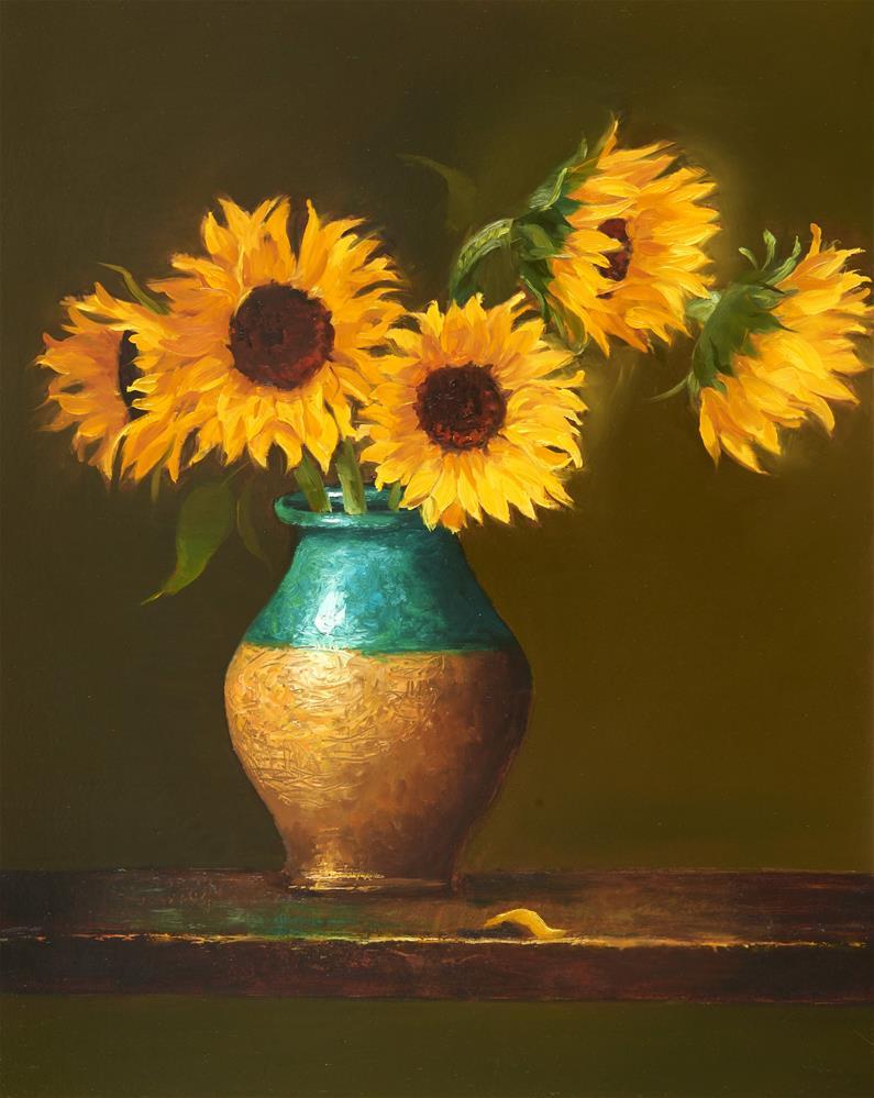 """Sunflowers"" original fine art by Lisa Wald"