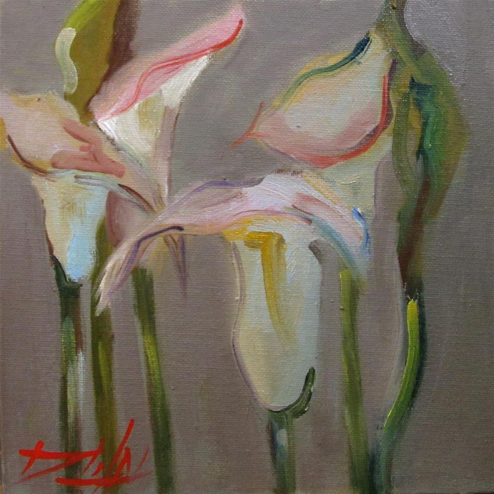 """""""Calla Lillies"""" original fine art by Delilah Smith"""