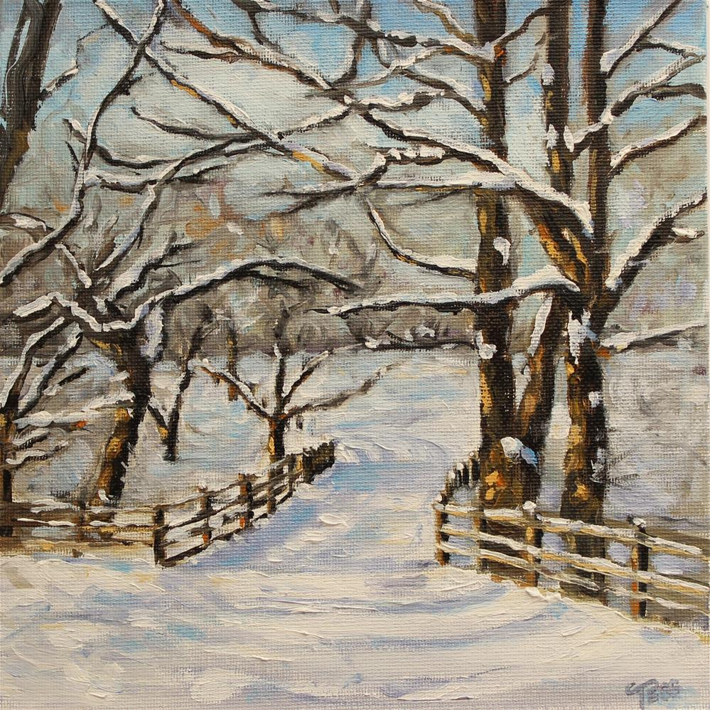 """Snow Shadows"" original fine art by Tess Lehman"