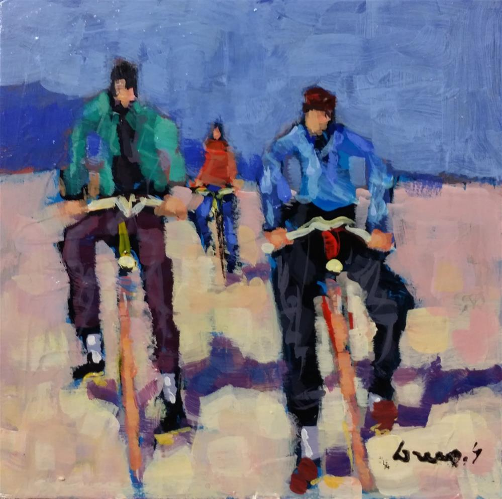 """bicycles #2"" original fine art by salvatore greco"
