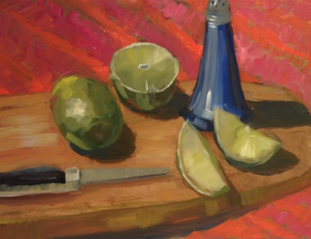 """It's 5  O'Clock Somewhere"" original fine art by Barbara Fluty"