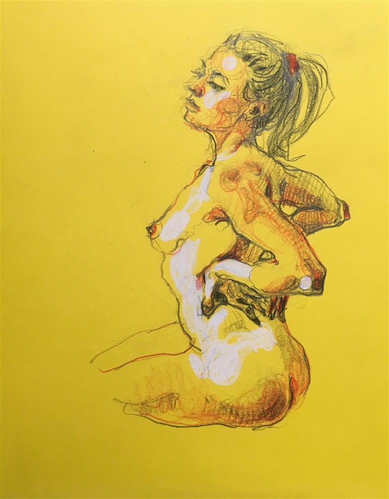 """Figure92"" original fine art by Katya Minkina"