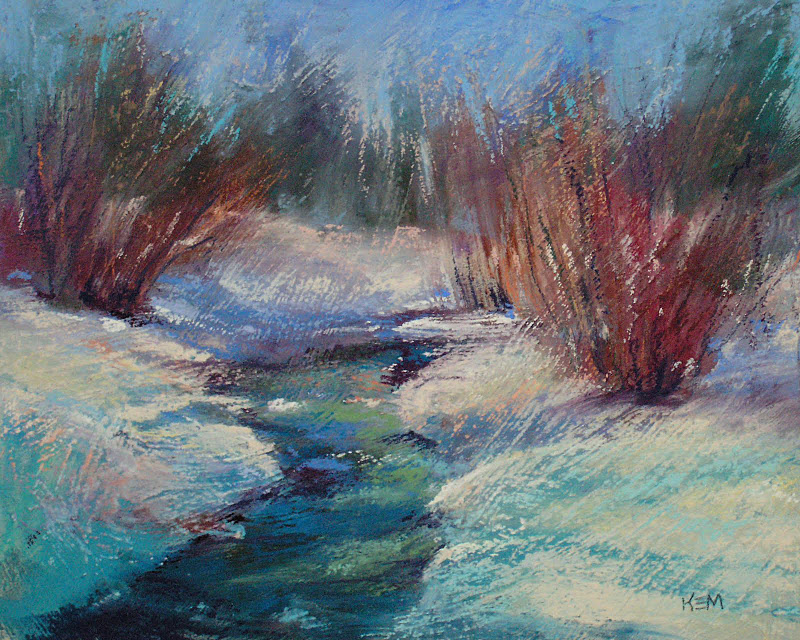 """Laying it on Thick...A Recipe for Thick  Pastel Ground"" original fine art by Karen Margulis"