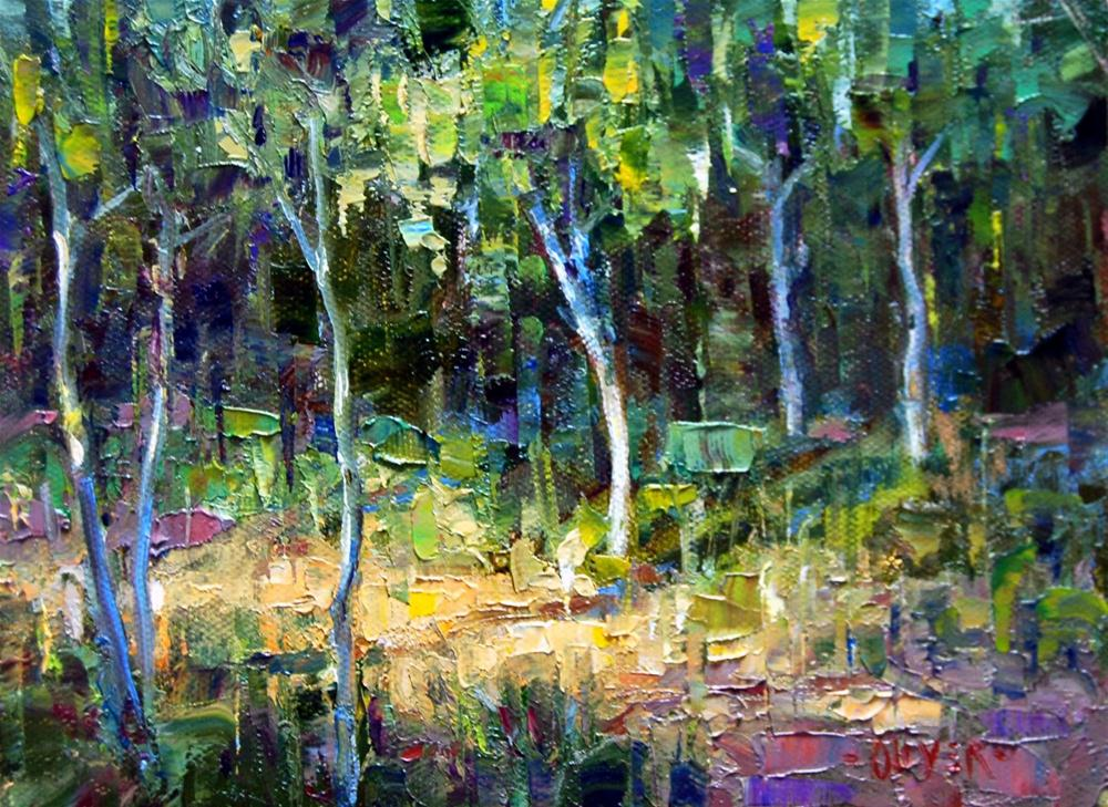 """""""Young Trees ll"""" original fine art by Julie Ford Oliver"""