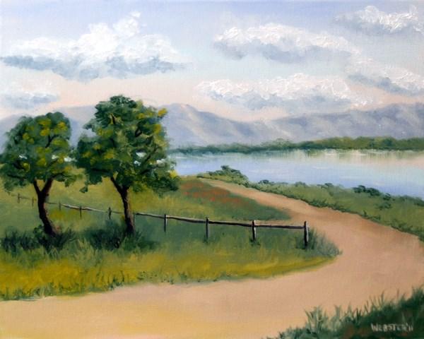 """Mark Adam Webster - Princess Vlei Lake - Cape Town - South Africa Oil Painting"" original fine art by Mark Webster"