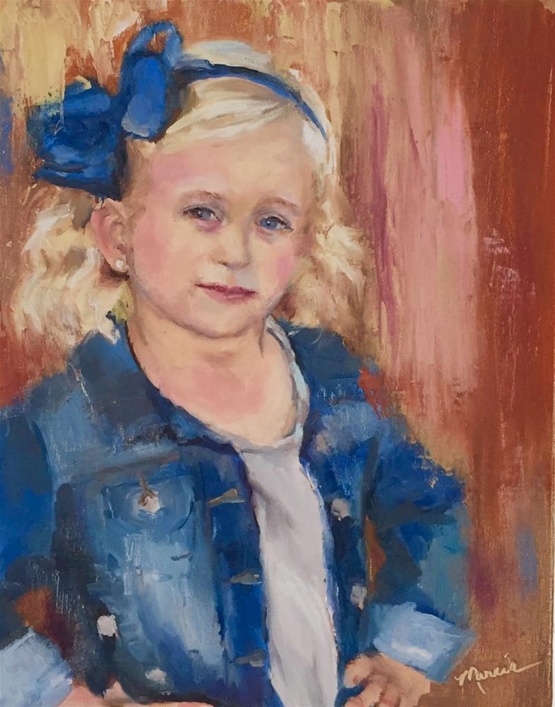 """Rebekah Joy"" original fine art by Marcia Hodges"