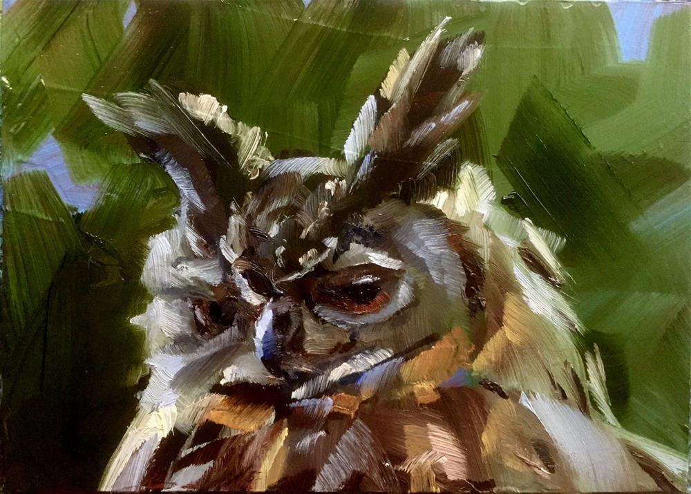 """Eagle Owl"" original fine art by Gary Bruton"