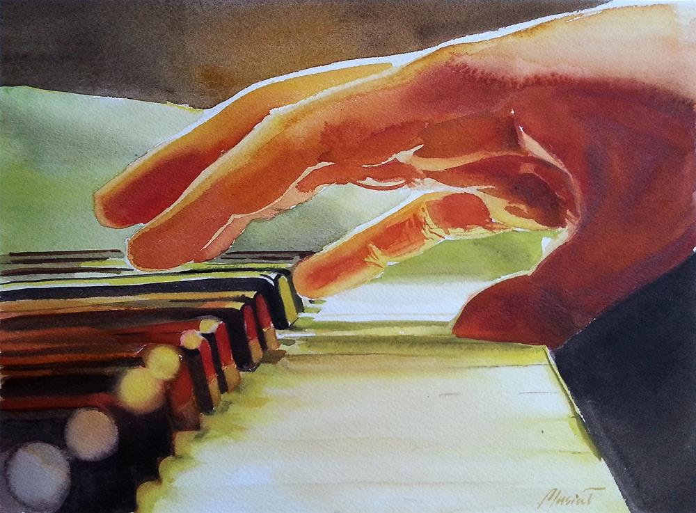 """piano_2"" original fine art by Beata Musial-Tomaszewska"