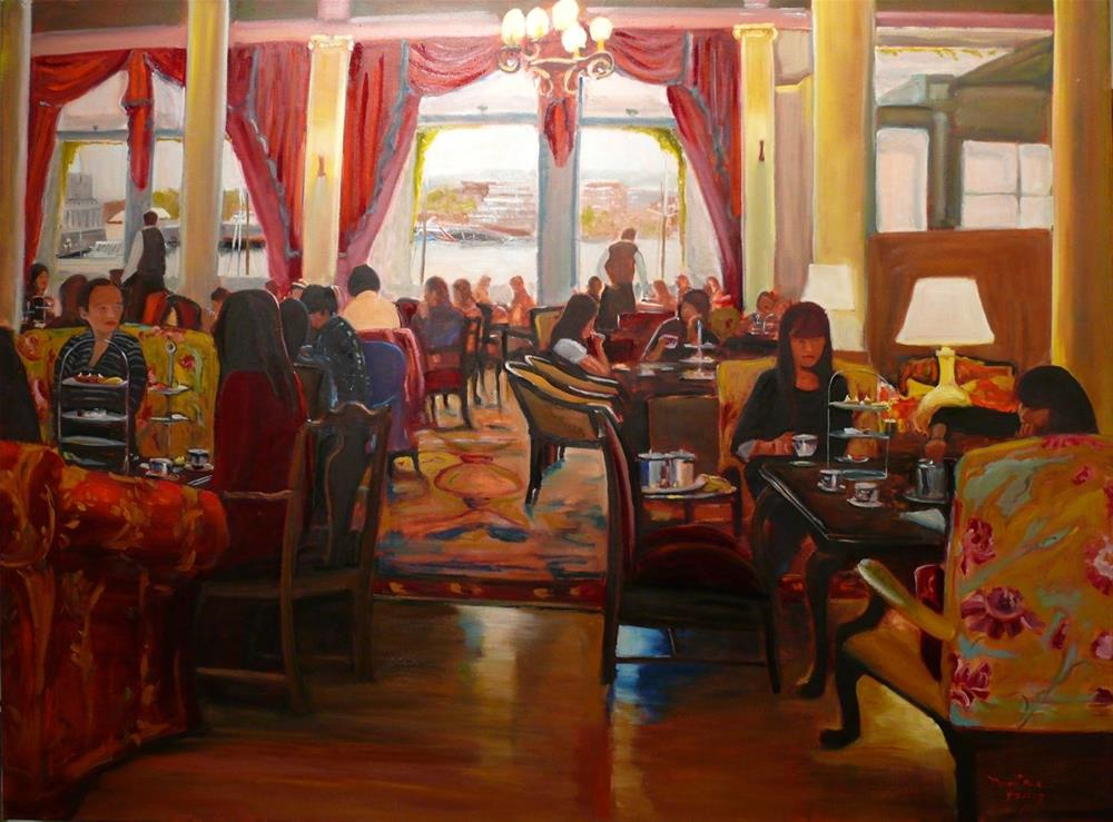 """644 Afternoon Tea at the Empress"" original fine art by Darlene Young"