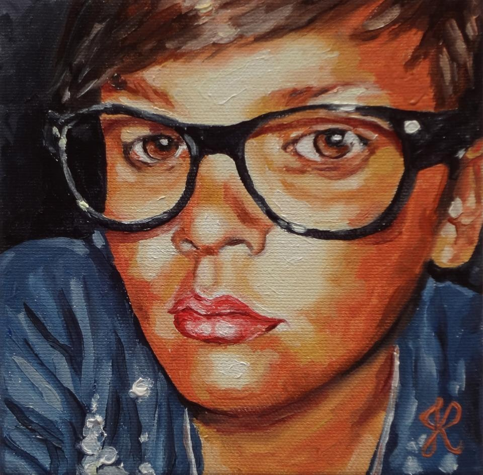 """Boy IV"" original fine art by Jacinthe Rivard"