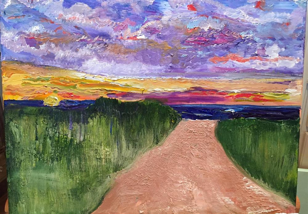 """Path to the beach"" original fine art by Yvonne Snead"